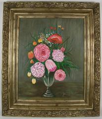 Oversized Pink Still life Painting