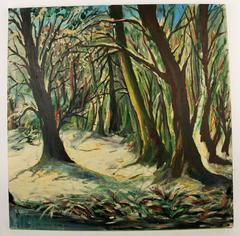 Winter Forest Landscape Painting
