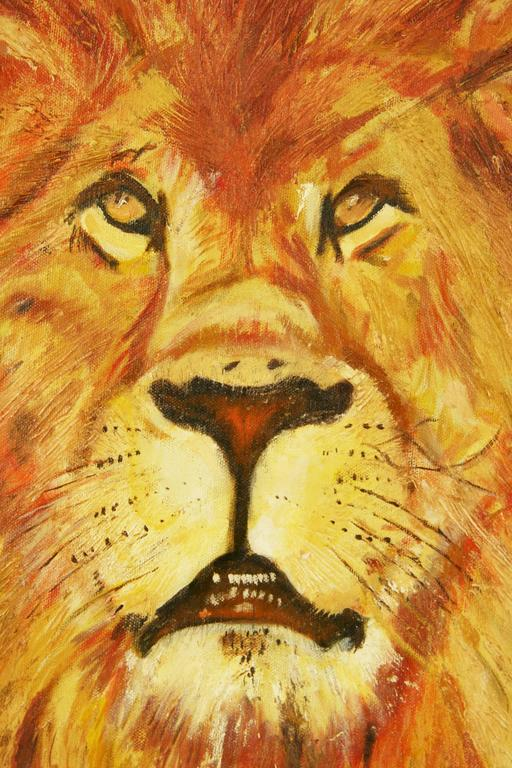 Leo The Lion Animal Painting For Sale 3