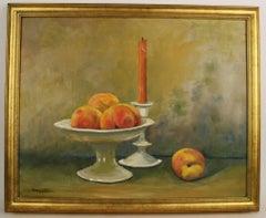 Peach Still Life Painting