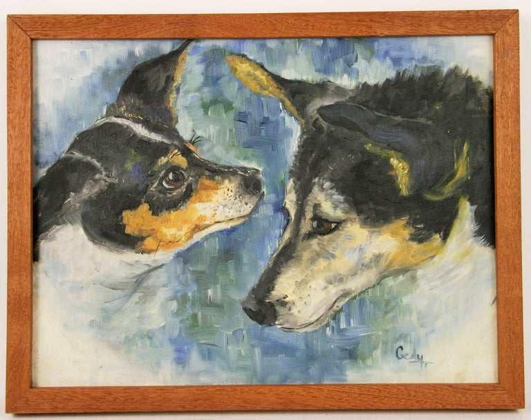 Harry and Samantha Dog Painting
