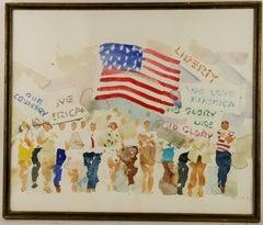 Proud America Watercolor