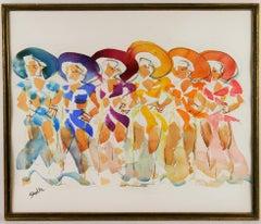 Dancers Watercolor