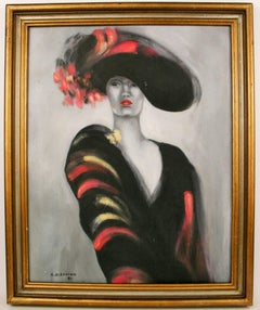 Diva in Black Painting by A.DiSavino