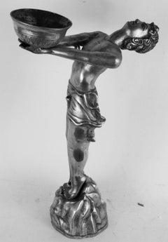 Silvered Brass Deco Sculpture