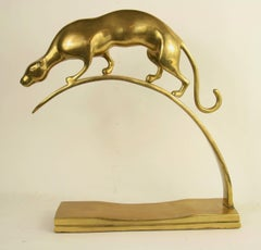 Unknown - Brass Panther Sculpture