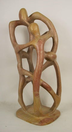 Abstract Mid Century Figural Stone Sculpure