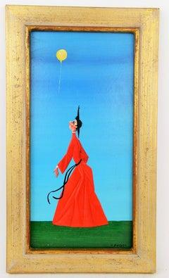 Surrealist Friar Figurative Painting