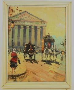 Old  Paris Impressionist Cityscape