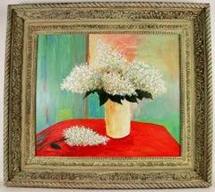 White Hydrangeas Painting