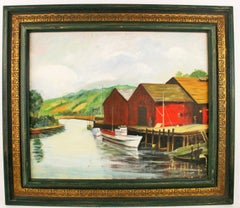 Dockside at The Cannery Painting