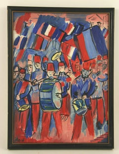 Bastille Day Parade Painting