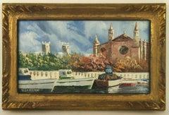 Italy Lake Vista Painting