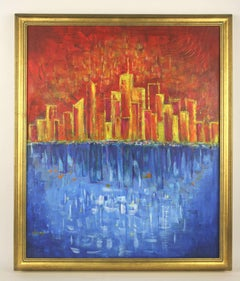Modern City   Abstract Painting