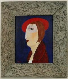 Red Hat Portrait Painting