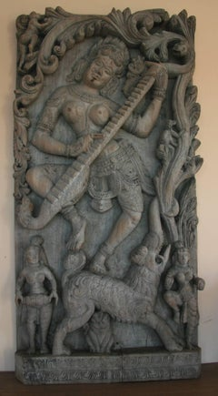 ON SALE Lord Krishna Hand Carved Wall Sculpture