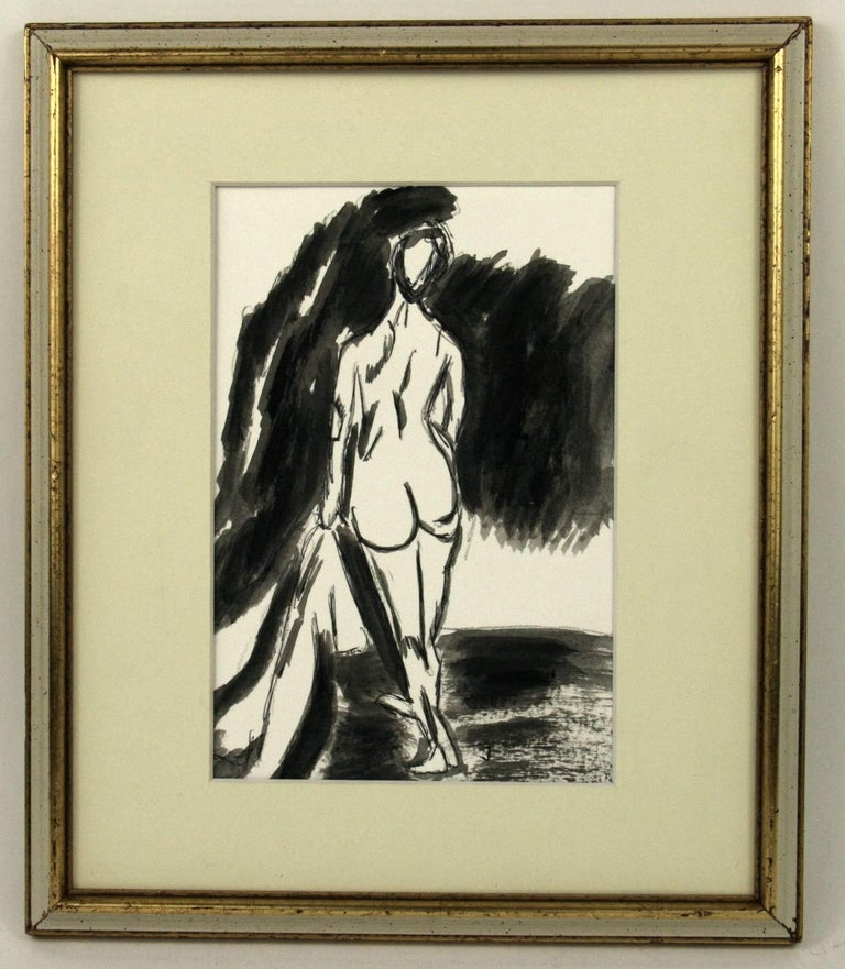 Female Nude Gouache - Art by Unknown