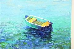 Dingy Seascape Palette Painting