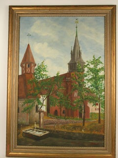 Old english Church Painting
