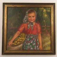 Farm Girl Painting