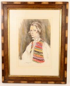 Woman with Colorful Vest  Portrait