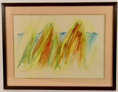 Mountain Peek Abstract Watercolor