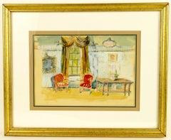 Interior Designer Watercolor Interiorscape