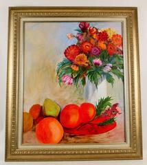 Orange Still Life Painting by Vance