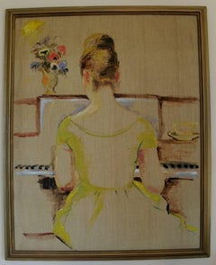 The Pianist  Figurative Impressionist Painting