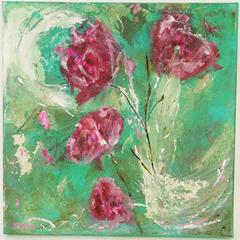 Roses Acquamarine Abstract