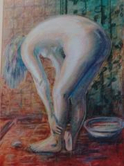 The Bather Pastel of Nude