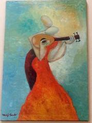 Pasion De La Musica Paintingby Niki Sands