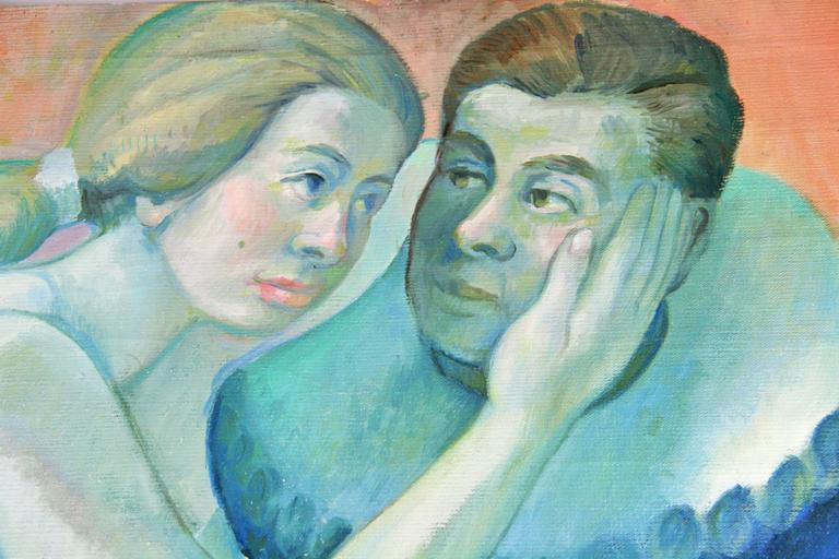 Impressionist  Figurative  Performers Blue  Painting For Sale 3