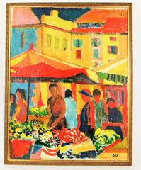 Outdoor  Market Painting