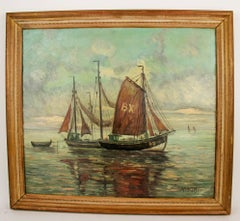 Fishing Troller Seascape Painting