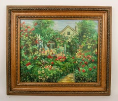 Spring in The Garden Landscape  Painting
