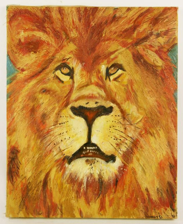 Leo The Lion Animal Painting For Sale 4