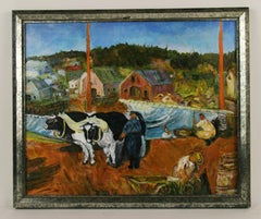Bucolic French  Scene by Bourque