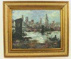 NYC Skyline from Brooklyn Bridge