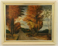 French Fall Path Painting