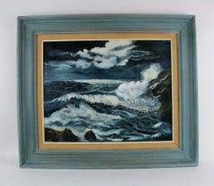 Moonlit Sea Nautical Painting