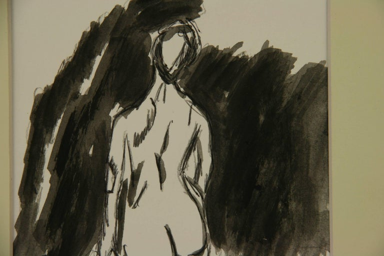 Female Nude Gouache For Sale 2