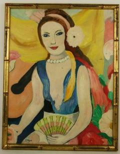 ON SALE Exotic Female Figure Painting