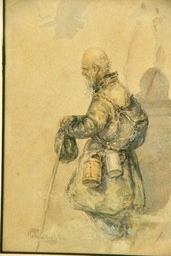 The Traveler Watercolor