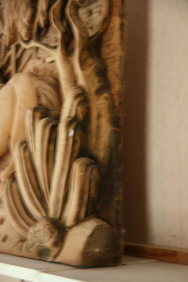 Large Scale Western Wood Sculpture For Sale 3