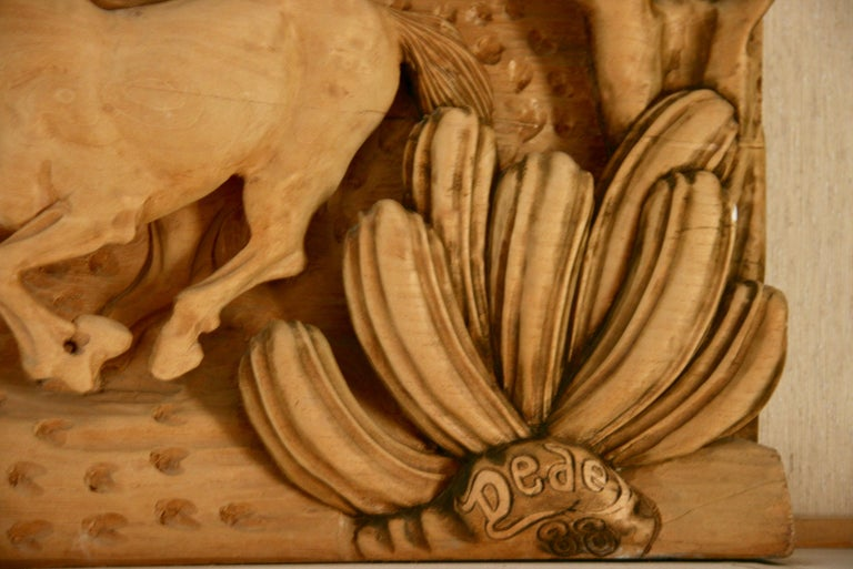 Large Scale Western Wood Sculpture For Sale 2