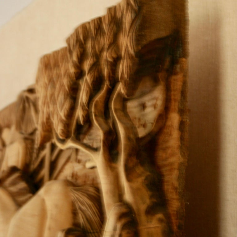Large Scale Western Wood Sculpture For Sale 4