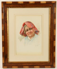 Nonna  Portrait Watercolor