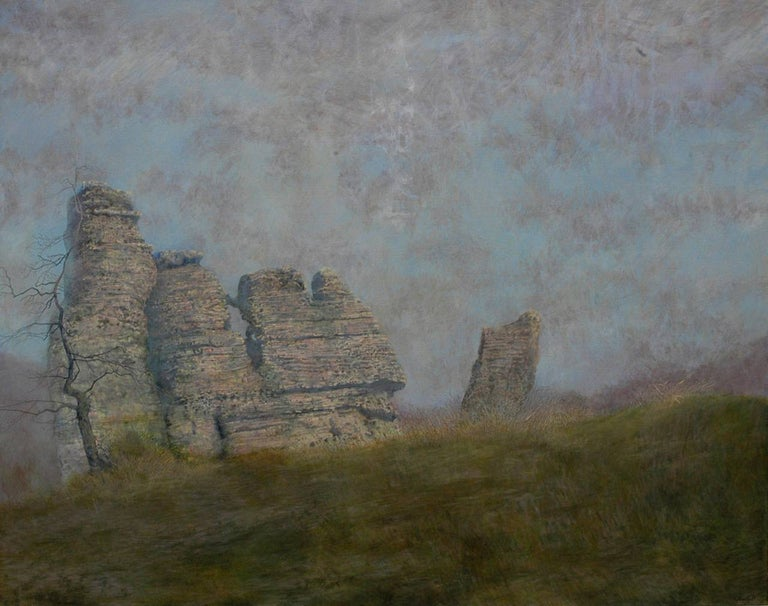 Ancient Rock Formations  - Painting by Charles Brindley