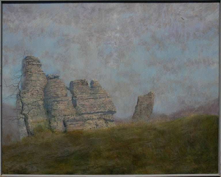 Charles Brindley Abstract Painting - Ancient Rock Formations
